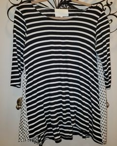 Anthropologie/puella tunic with pattern panels